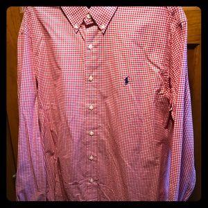 Men's Long Sleeve Polo Button up